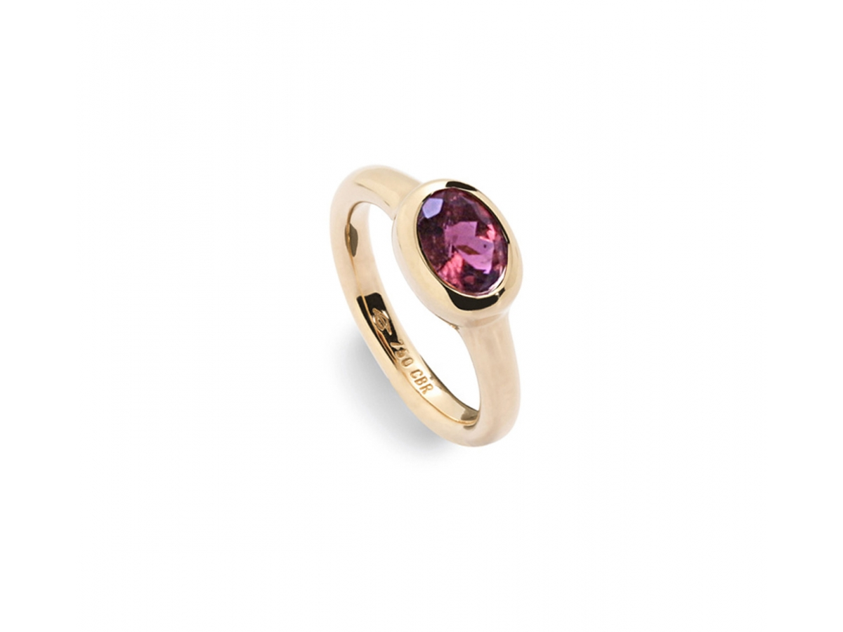 Ring 18 Karat Roségold 6,4 g, Turmalin 1,39 ct