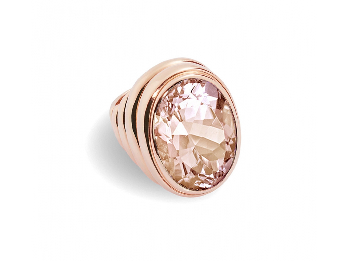 Ring 18 Karat Roségold 21,6 g, Morganit 16,55 ct